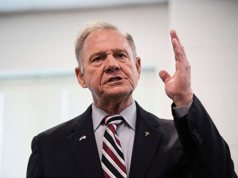 PHOTO: GOP candidate for U.S. Senate Roy Moore speaks during a candidates forum in Valley, Ala., on Aug. 3, 2017.