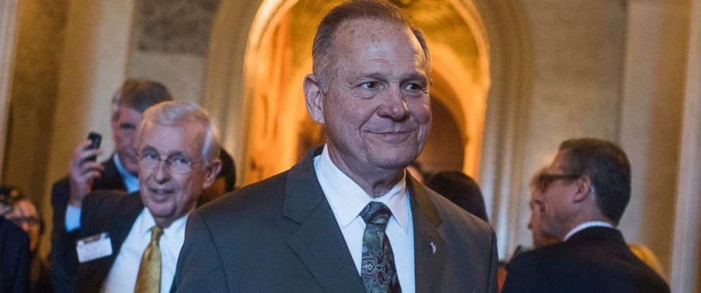 PHOTO: Alabama Republican Senate nominee Roy Moore during a visit to Capitol Hill in Washington, D.C., October 31, 2017.