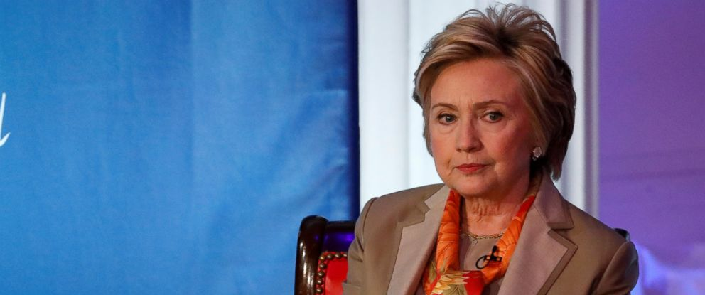 PHOTO: Former U.S. Secretary of State Hillary Clinton takes part in the Women for Women International Luncheon in New York, May 2, 2017.