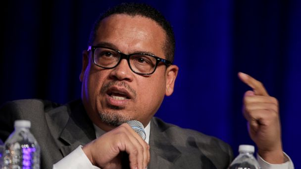 PHOTO: Rep. Keith Ellison (D-MN), a candidate for Democratic National Committee Chairman, speaks during a Democratic National Committee forum in Baltimore, Maryland, Feb. 11, 2017.