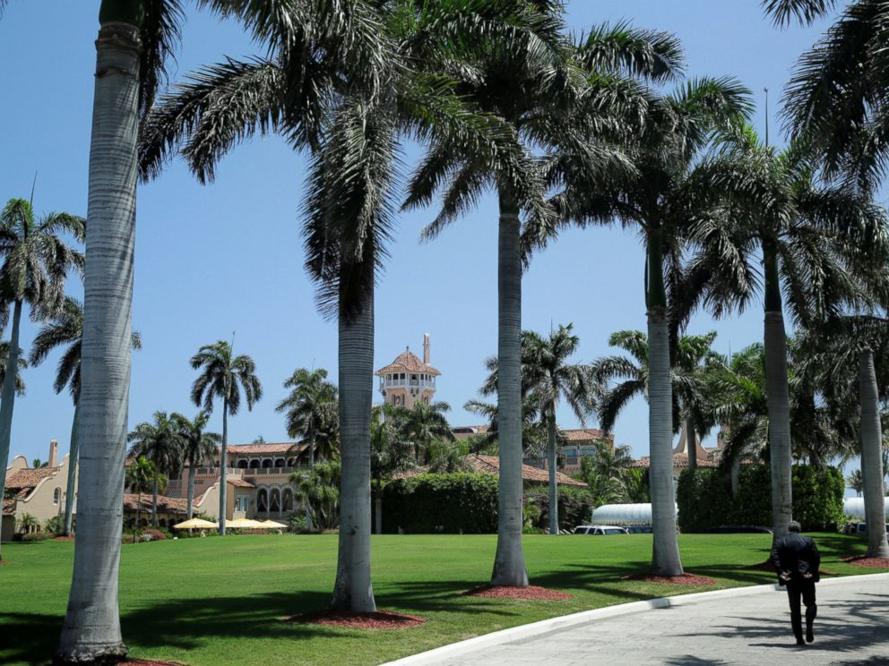 PHOTO: President Donald Trumps Mar-a-Lago estate is seen in Palm Beach, Fla., April 16, 2017.