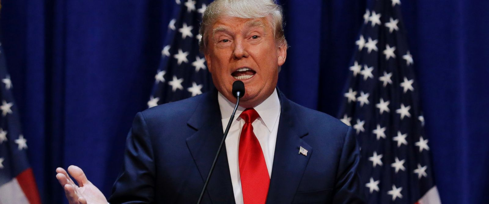PHOTO: U.S. Republican presidential candidate, Donald Trump, formally announces his campaign for the 2016 Republican presidential nomination during an event at Trump Tower, June 16, 2015, in New York.