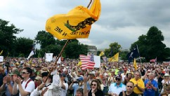 PHOTO: A crowd cheers speaker Glenn Beck during a Tea Party rally on Capitol in Washington, June 19, 2013.