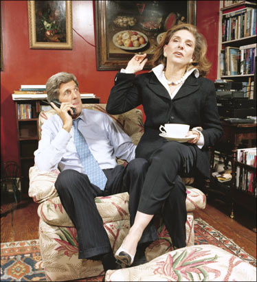 John Kerry with his wife, Teresa Heinz Kerry