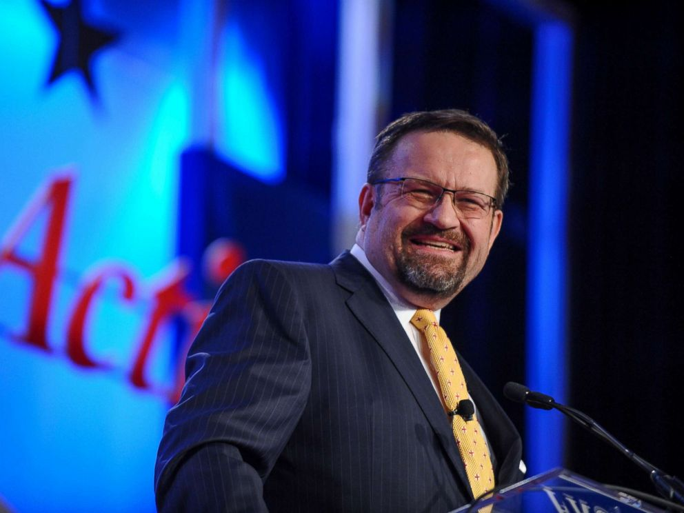 PHOTO: Sebastian Gorka delivers remarks during the Value Voters Summit at the Omni Shoreham Hotel in Washington, D.C., Oct. 14, 2017.