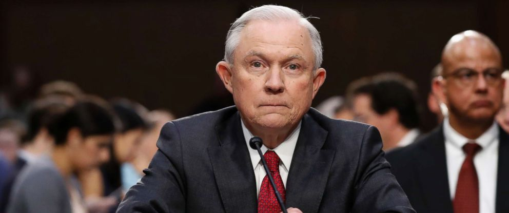 PHOTO: Attorney General Jeff Sessions prepares to testify on Capitol Hill in Washington, June 13, 2017, before the Senate Intelligence Committee.