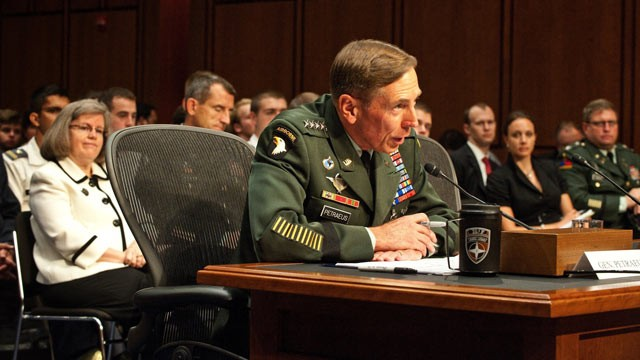 PHOTO: US Army General David Petraeus sits before the Senate Select Committee on Intelligence for his confirmation hearing as the next Director of the Central Intelligence Agency in this June 2011 photo.