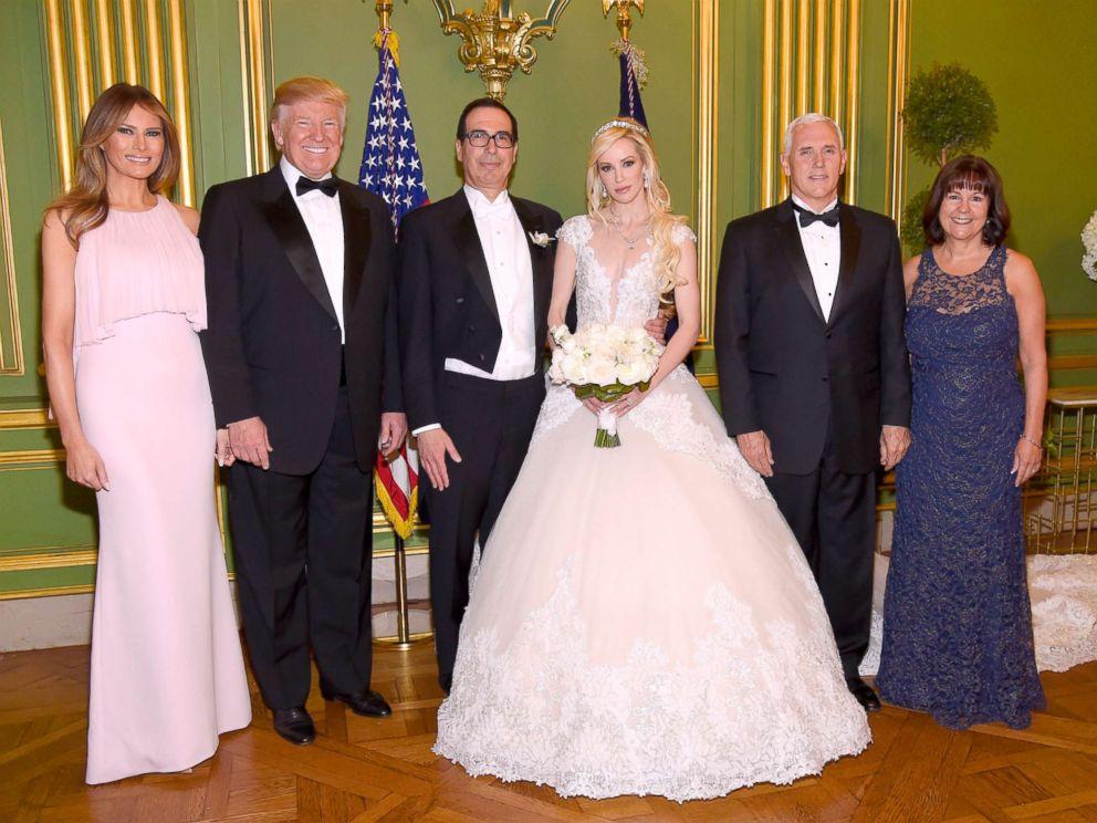 First Lady Melania Trump President Secretary Of The Treasury Steven Mnuchin Louise