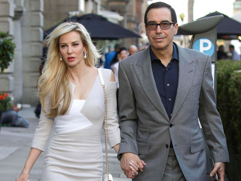 PHOTO: Louise Linton and Treasury Secretary Steve Mnuchin are pictured during their honeymoon in Edinburgh, Scotland, Aug. 5, 2017. <p itemprop=