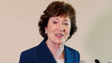 'PHOTO: Sen. Susan Collins speaks1_b@b_1a news conference following the Penobscot Bay Regional Chamber of Commerce's Quarterly Business Breakfast in Rockport, Maine, Oct. 13, 2017.' from the web at 'http://a.abcnews.com/images/Politics/susan-collins-rt-jt-171014_16x9t_384.jpg'