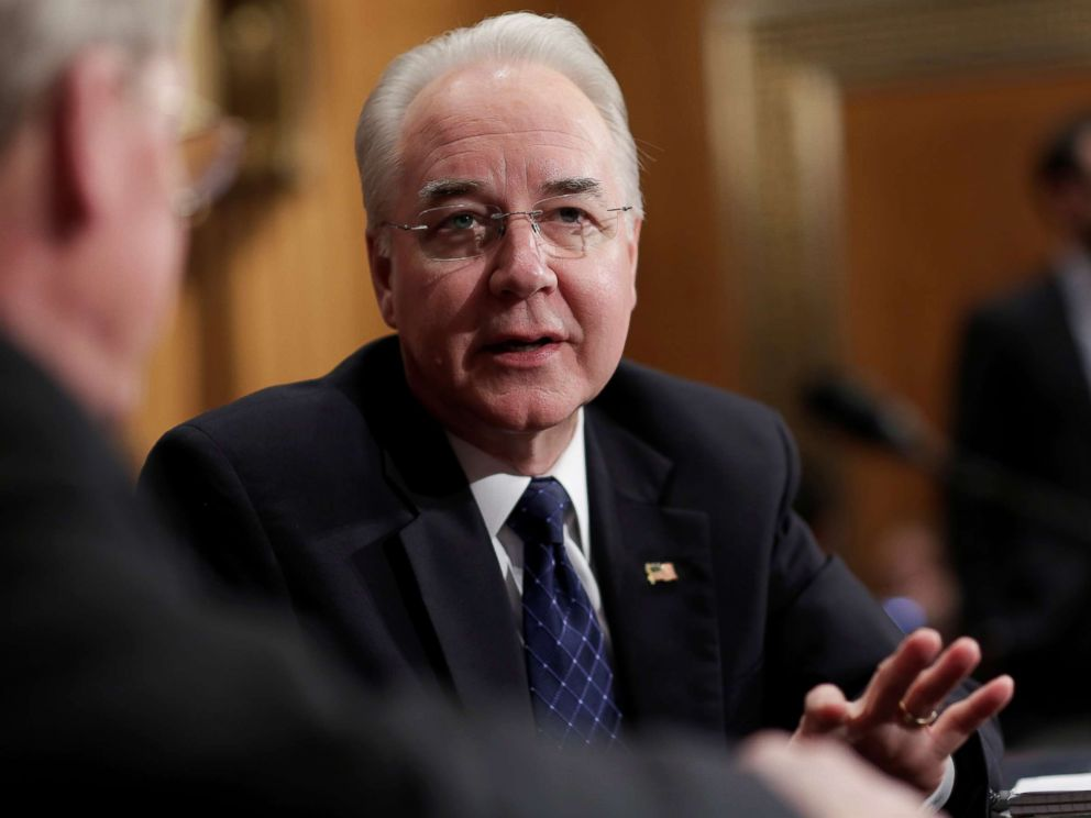 PHOTO: Tom Price speaks before testifying to the Senate Health, Education, Labor and Pensions Committee on his nomination to be Health and Human Services secretary in Washington, Jan. 18, 2017.
