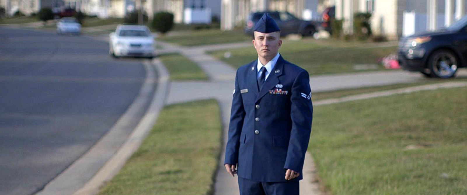'PHOTO: Sterling Crutcher posted an emotional message on Facebook defending his military service shortly after President Donald Trump tweeted that transgender individuals should be banned from the military.' from the web at 'http://a.abcnews.com/images/Politics/transgender-military-sterling_portrait-abc-ps-171109_12x5_1600.jpg'
