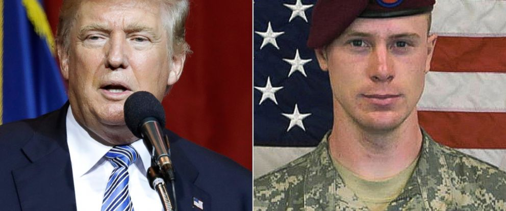 PHOTO: Republican presidential candidate Donald Trump speaks during a rally, July 12, 2016, in Westfield, Ind. | This undated image provided by the U.S. Army shows Sgt. Bowe Bergdahl.