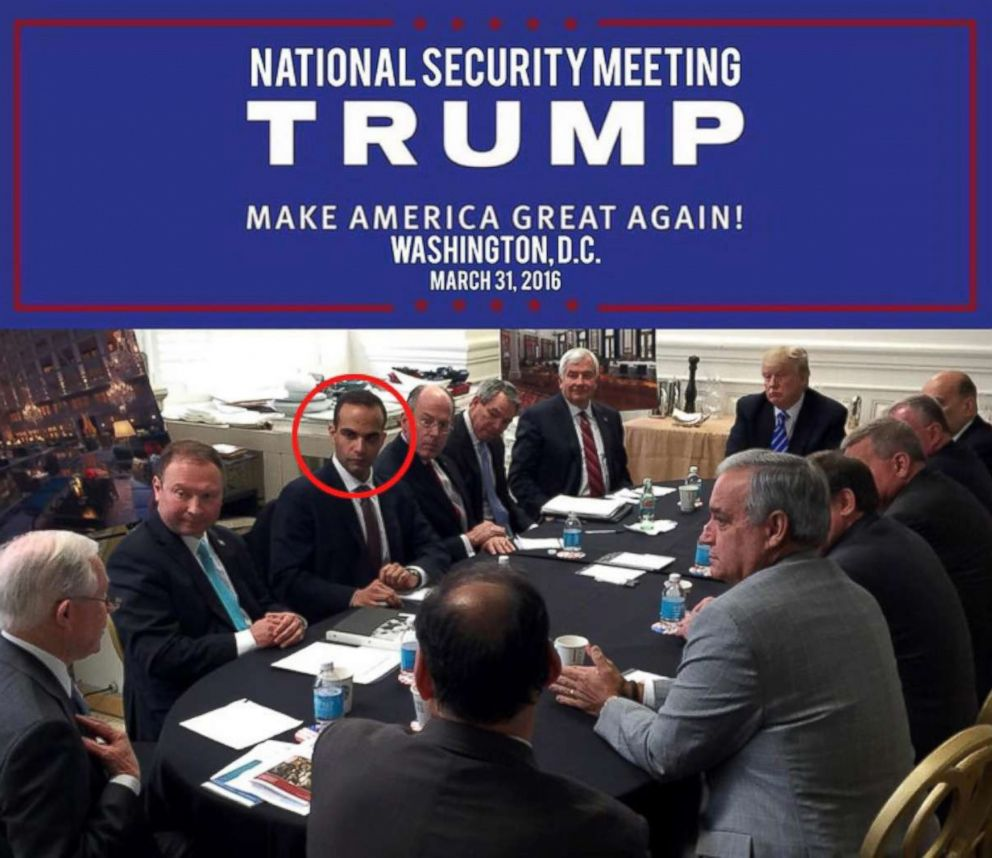 PHOTO: Photo posted to Donald Trumps Instagram account showing George Papadopoulos, circled in red.
