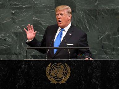 Trump threatens to 'totally destroy' N. Korea, calls Iran 'murderous regime'