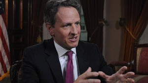 PHOTO:&nbsp;Timothy Geithner on This Week with Christiane Amanpour