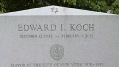 VIDEO: The engraver mistakenly listed Ed Koch's birth year as 1942 instead of 1924.