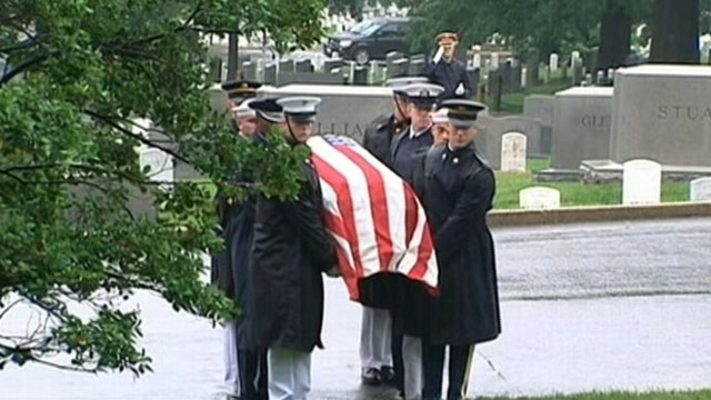 VIDEO: WW II veteran who served in the U.S. Senate was laid to rest at Arlington National Cemetery.