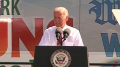VIDEO: The vice president made an appearance in the first caucus state days after Hillary Clintons visit.