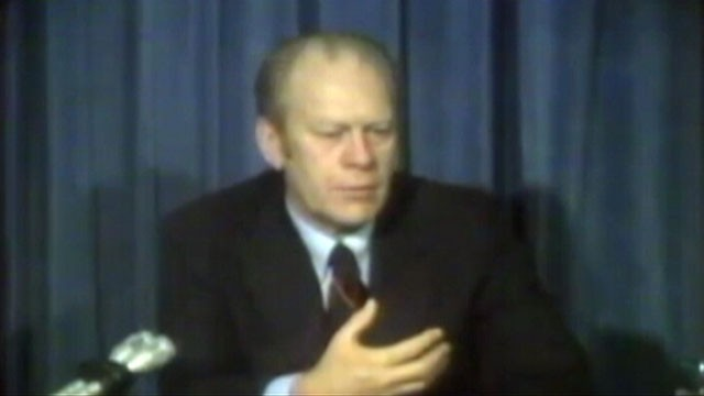 VIDEO: A federal court released the former presidents video testimony about the 1975 incident.