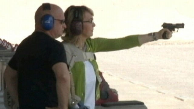 VIDEO: Gabrielle Giffords and Mark Kelly launch tour to push for expanded background checks.