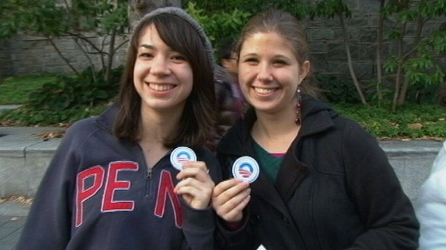 VIDEO: Younger voters like Obama, but lack excitement.