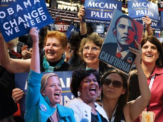 women election, women, vote 2008, election, supporters, obama, mccain