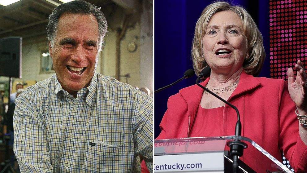 PHOTO: Mitt Romney and Hillary Clinton