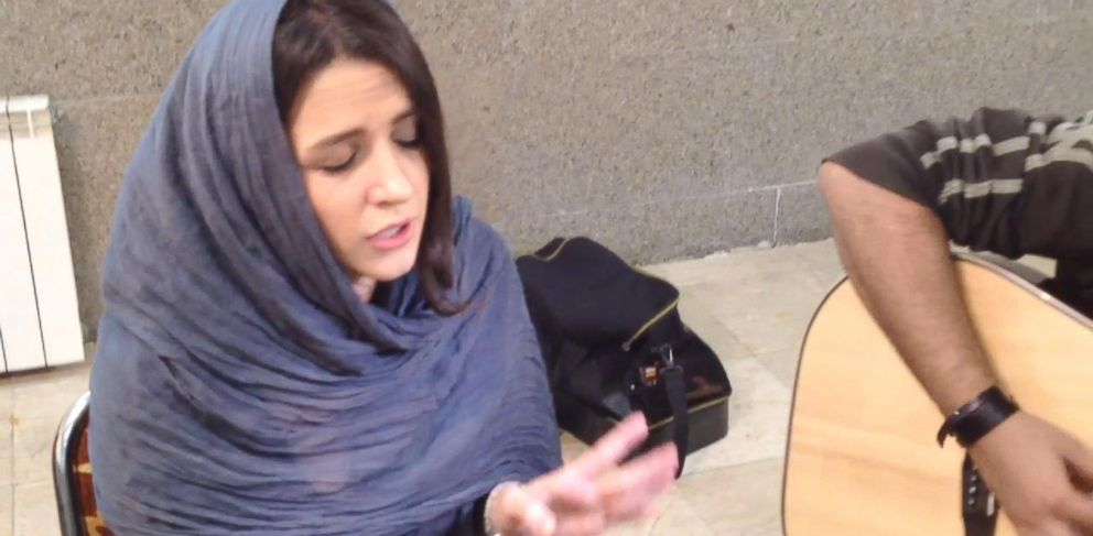 """PHOTO: Azadeh Ettehad, 27, sings Adeles """"Rolling in the Deep."""""""