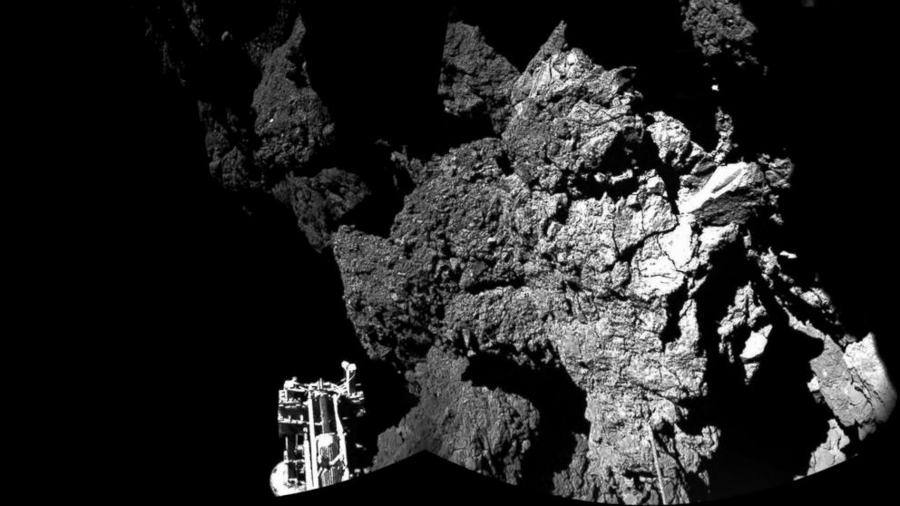 Comet 67P/Churyumov-Gerasimenko, as these first CIVA images confirm