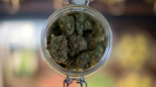 PHOTO: A sample of marijuana is shown inside the dispensary at Collective Awakenings in Portland, Ore., in this Sept 11, 2014 file photo.