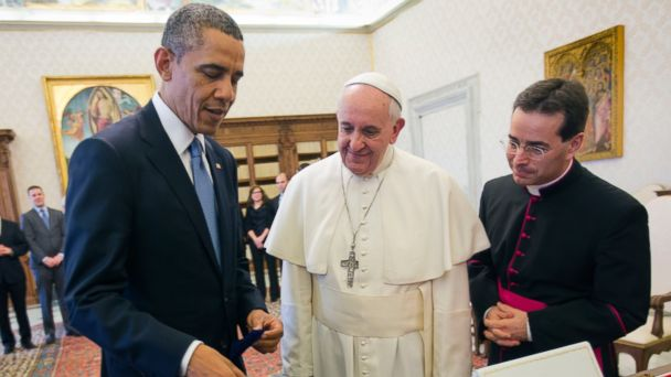 AP Vatican Pope6 Obama ml 140327 16x9 608 What in the World Does a President Give the Pope?