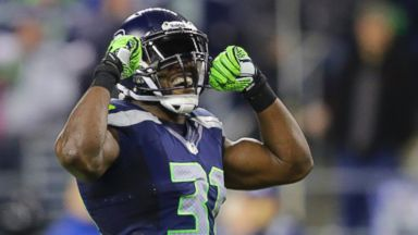 PHOTO: Seattle Seahawks Kam Chancellor celebrates a play against the New Orleans Saints, Dec. 2, 2013, in Seattle.