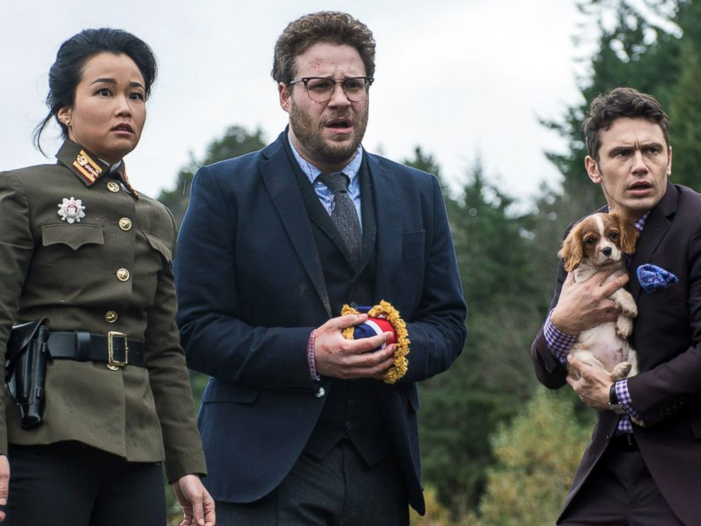 PHOTO: From left, Diana Bang, Seth Rogen, and James Franco are pictured in The Interview.