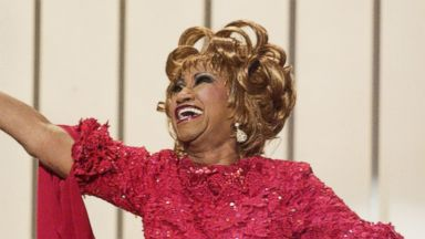 PHOTO: Celia Cruz winner of the Best Salsa Album Award at the 3rd Annual Latin GRAMMY Awards at the Kodak Theater, Sep. 18, 2002.