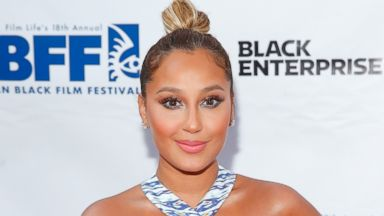 PHOTO: Singer Adrienne Bailon attends the Think Like A Man Too premiere during the 2014 American Black Film Festival at SVA Theater, June 19, 2014, in New York.