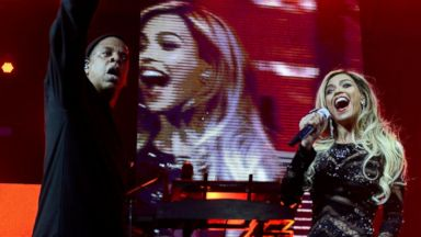 PHOTO: Jay-Z and Beyonce perform onstage at DirecTV Super Saturday Night at Pier 40 on Feb. 1, 2014 in New York City.