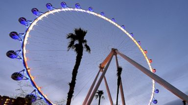 PHOTO: The Las Vegas High Roller at The LINQ, March 30, 2014, in Las Vegas. The 550-foot-tall attraction is the highest observation wheel in the world and features 28 spherical cabins that can hold up to 40 people each.