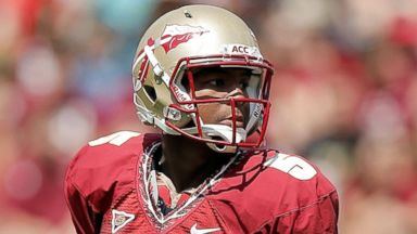 PHOTO: Jameis Winston is pictured on April 12, 2014 in Tallahassee, Fla.