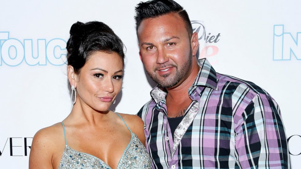 "PHOTO: Jennifer ""JWOWW"" Farley and Roger Mathews arrive at Intouch Weeklys ""ICONS & IDOLS Party,"" Aug. 25, 2013, in New York City."