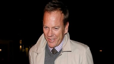 PHOTO: Kiefer Sutherland spotted at Little House Restaurant, Feb. 1, 2014 in London.