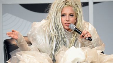 PHOTO: Lady Gaga speaks during Keynote at SXSW at Austin Convention Center on March 14, 2014 in Austin, Texas.