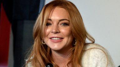 PHOTO: Lindsay Lohan speaks at the Lindsay Lohan Press Conference at Social Film Loft during the 2014 Park City, Jan. 20, 2014, in Park City, Utah.