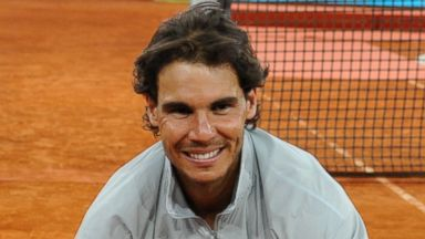 PHOTO: Rafa Nadal attends Mutua Madrid Open at La Caja Magica, May 11, 2014, in Madrid.