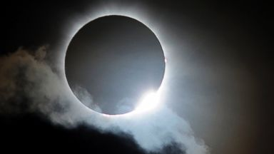 PHOTO: Near totality is seen during the solar eclipse at Palm Cove on Nov. 14, 2012 in Palm Cove, Australia.