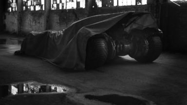 "PHOTO: Zack Snyder posted this photo on Twitter with this caption: ""Could be time to pull the tarp...Tomorrow?"" May 12, 2014."