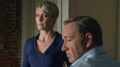 "PHOTO: Robin Wright and Kevin Spacey in season 2 of Netflixs ""House of Cards."""