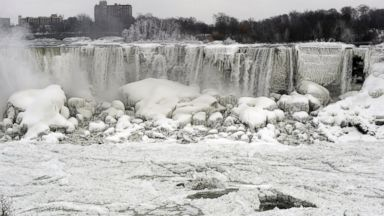 PHOTO: The U.S. side of the Niagara Falls is pictured from Ontario, Jan. 8, 2014.