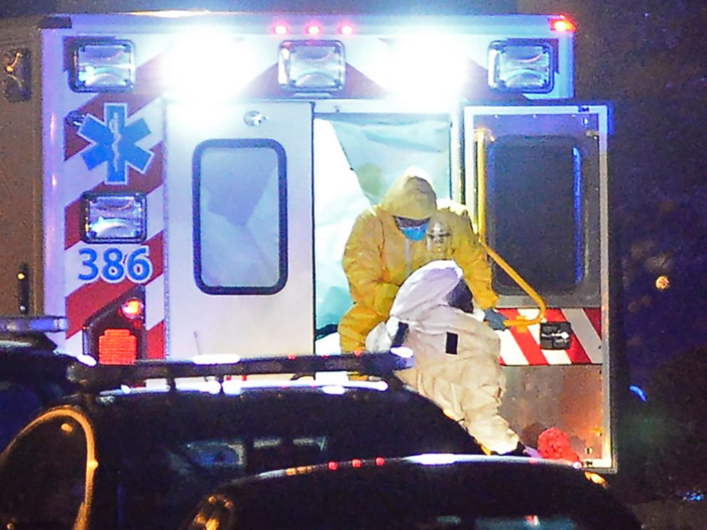 PHOTO: An ambulance carrying Amber Joy Vinson arrives at Emory University Hospital on Oct. 15, 2014, in Atlanta.