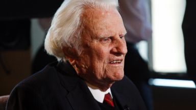 PHOTO: In this Dec. 20, 2010 file photo, evangelist Billy Graham is interviewed at the Billy Graham Evangelistic Association headquarters in Charlotte, N.C. The evangelist turns 95 on Nov. 7, 2013 and a big party is planned to celebrate the occasion.